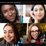 One of Skype's free group video calls