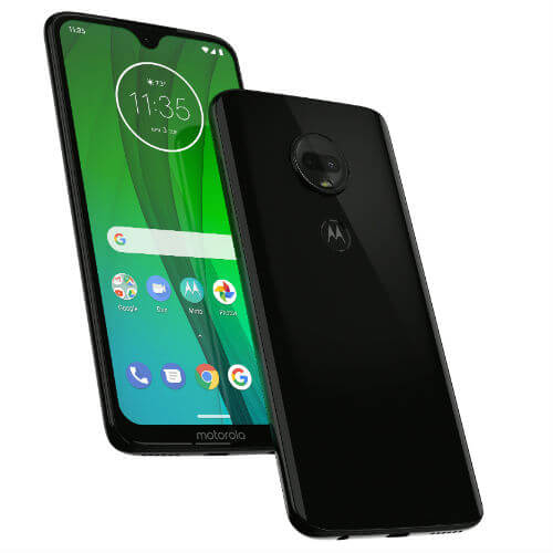 Motorola Moto G7 front and back