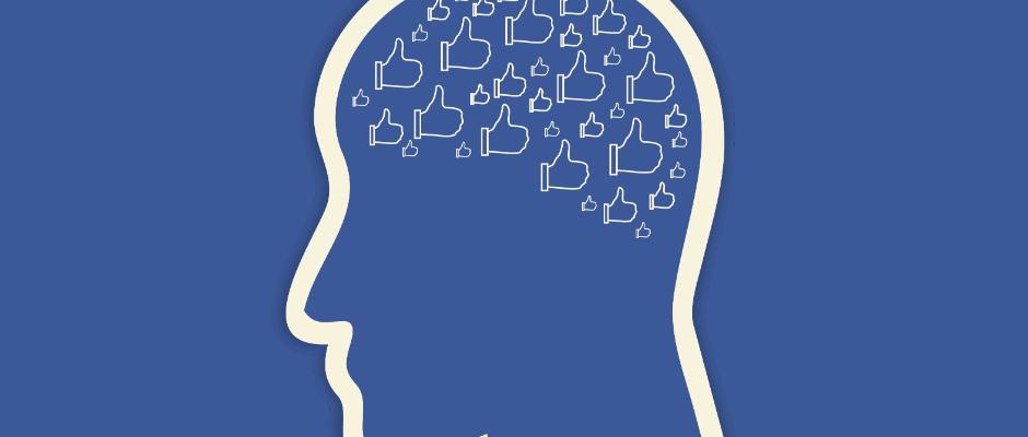 facebook likes in mans brain