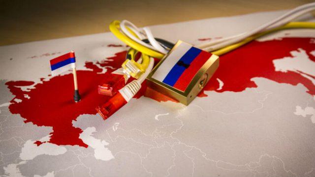 Russia internet padlock