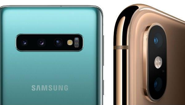 Samsung S10 cameras iPhone XS cameras