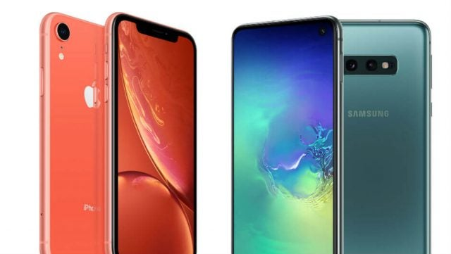 Samsung S10e vs iPhone XR