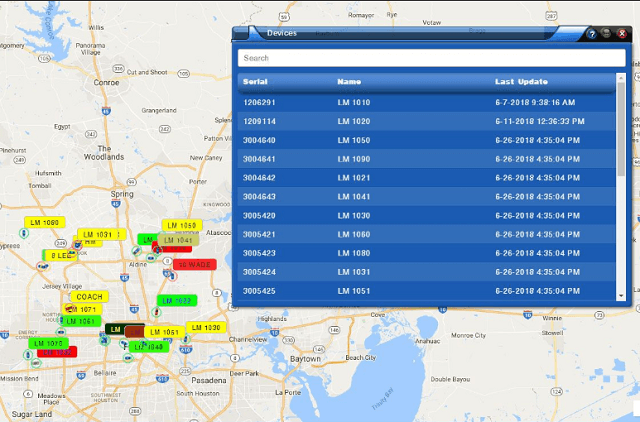US Fleet Tracking dispatch software map