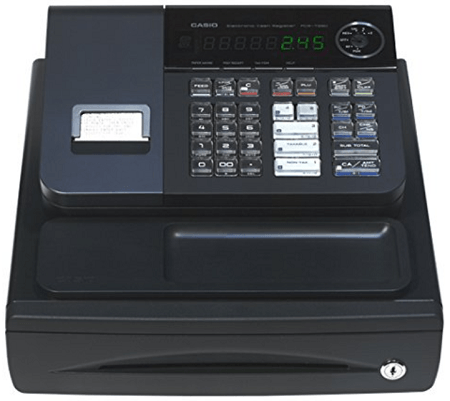 Casio PCR-T280 cash register for small business use