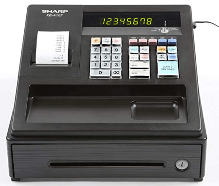 Sharp XEA-107 cash register for small business use