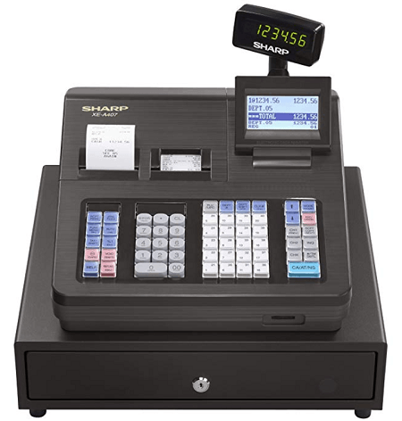 Sharp XEA-407 cash register for small business use