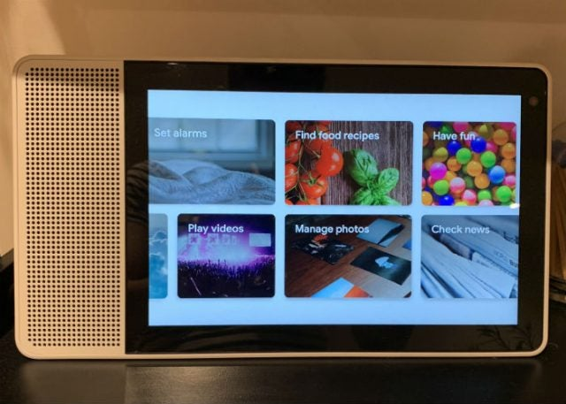 lenovo smart display different things to do
