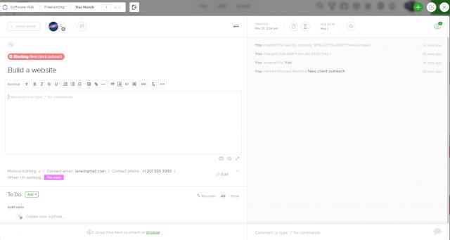 ClickUp Task Details