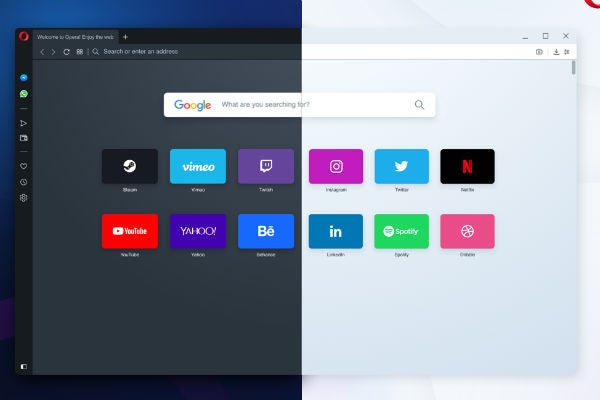 Opera light and dark mode