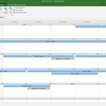 Microsoft Projects Calendar View