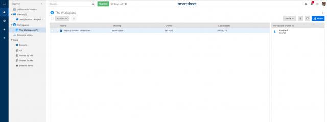 Smartsheet Workspace