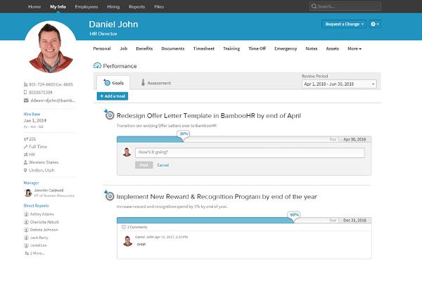 BambooHR user profile info