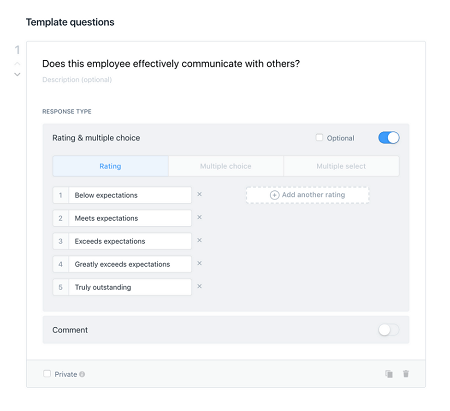 The Lattice performance management review template