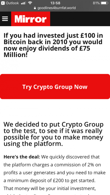 Fake Airline Email Crypto Group