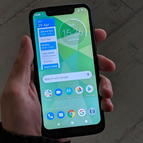 Moto g7 Play in hand small