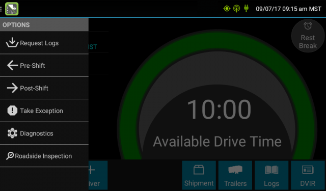 GPS Insight ELD software drive time