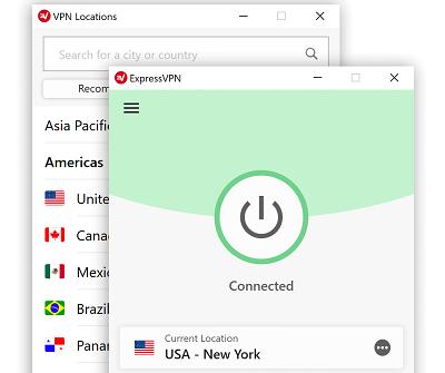 ExpressVPN app when active