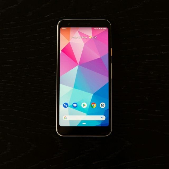 Google Pixel 3a review front screen
