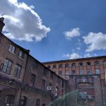 brick buildings sunny market square