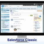 Example of the Salesforce Classic interface