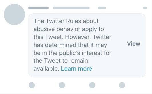 new twitter rules on abusive government personnel tweets