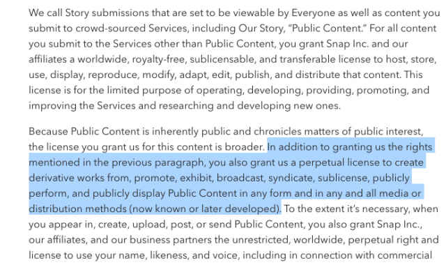 Snapchat Terms of Service