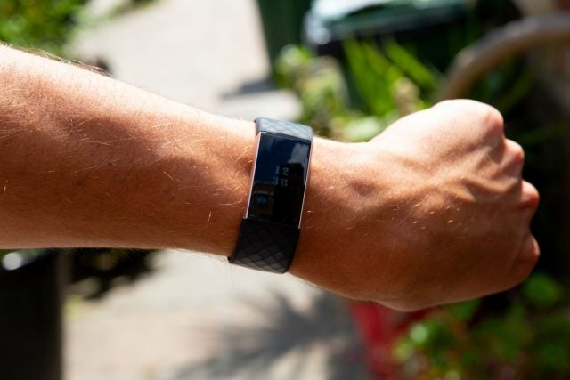 fitbit charge 3 on wrist