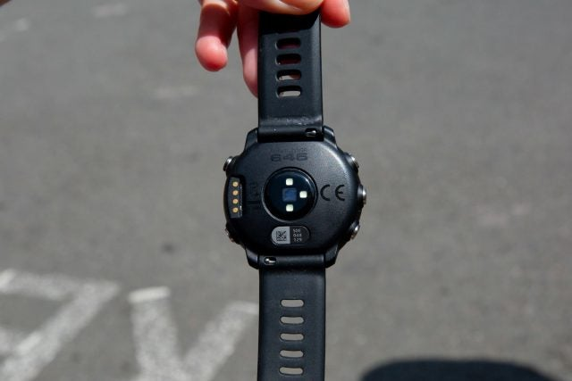 garmin forerunner 645 in hand
