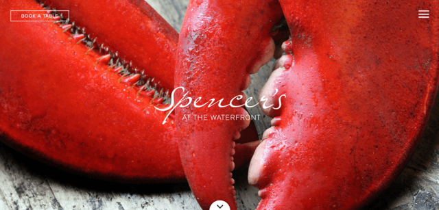 Spencer's restaurant website design
