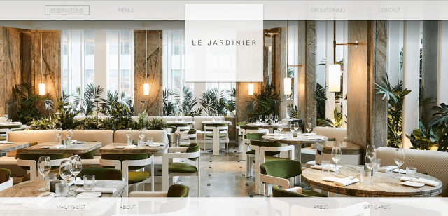 restaurant website design