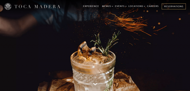 Toca Madera restaurant website design