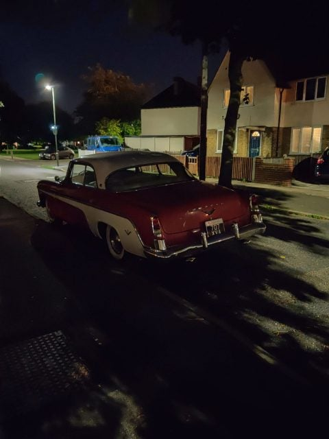 Vintage car photo taken with night mode on OnePlus 7
