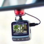 Wheelwitness dash cam mounted on rearview mirror