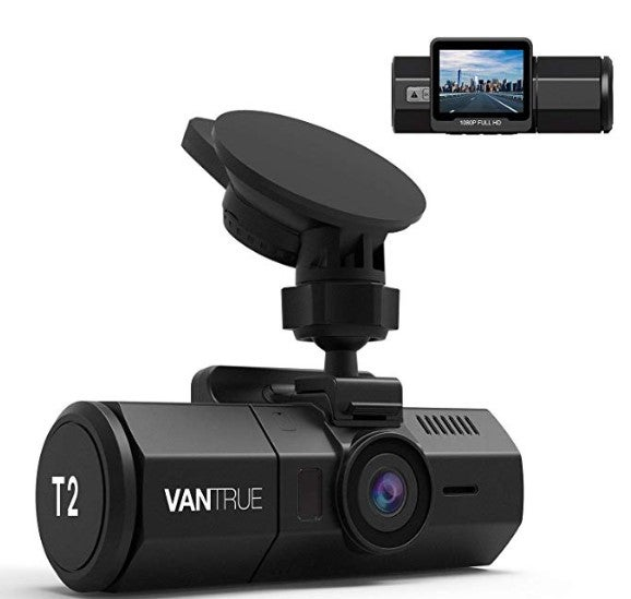 Vantrue T2 Dash Cam front and back