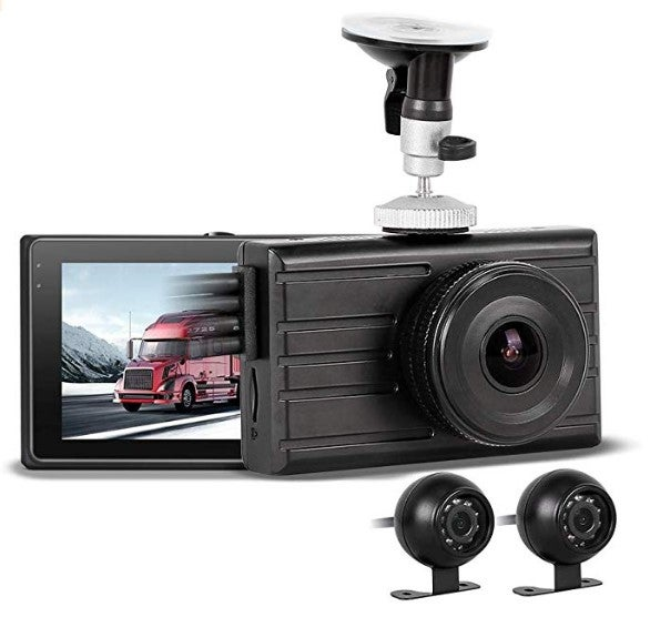 Vsysto front and rear dash cam