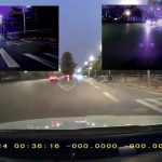 Vsysto front and rear dash cam night footage