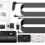 Thinkware front and rear dash cam with cords and user guide