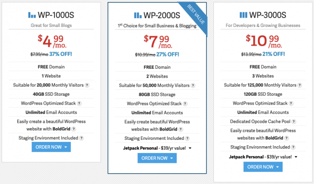 InMotion WordPress Hosting Costs