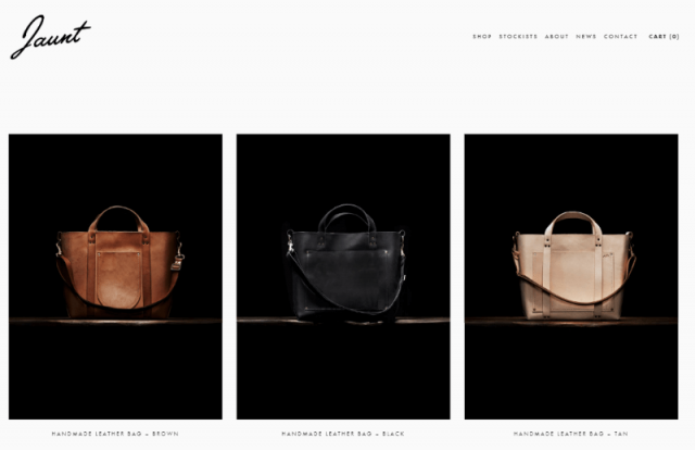 squarespace ecommerce jaunt template product picker