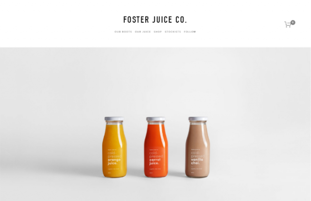juice website store example