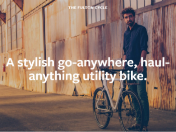 cycle store website example homepage