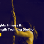 fitness studio website example homepage