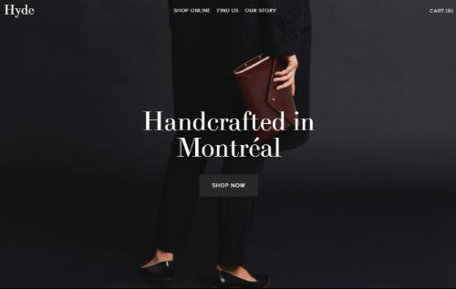 handbag online store homepage