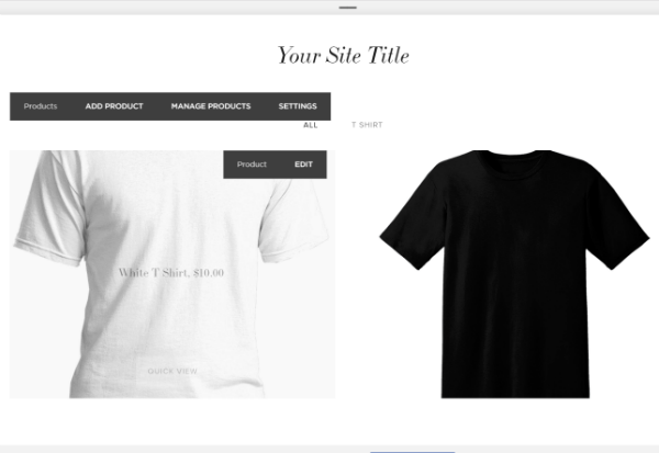 squarespace product page