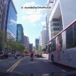 Transcend Pro 520 dual dash cam footage