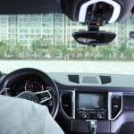 Vantrue N2 pro dual dash cam on windshield