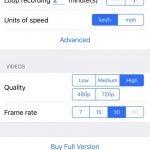 Smart dash cam app: Settings