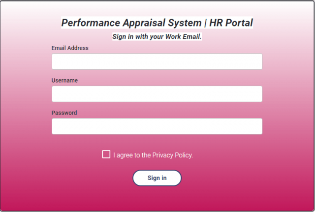 Business HR phishing login page
