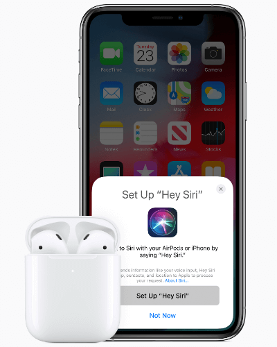 Apple AirPods and iPhone