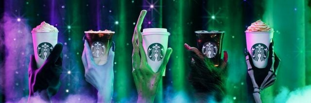 Starbucks Halloween banner